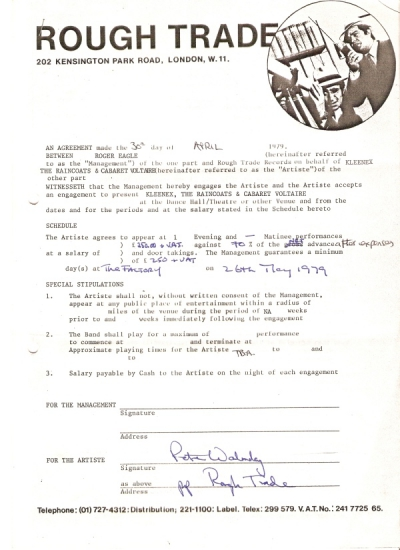 Contract Factory Club See Also Russell Club 30th April 1979