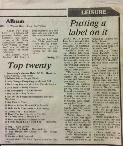 Fictitious Names, Press - 1989 - Manchester Digital Music Archive
