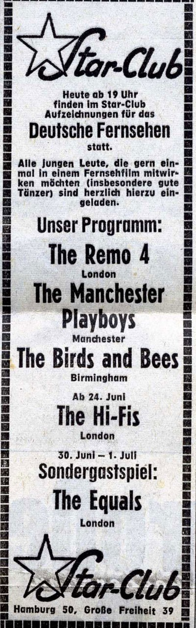 The Manchester Playboys, Advert - 1966 - Manchester Digital Music