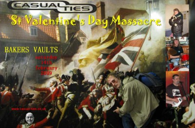 The Casualties Poster Bakers Vaults 2009 Manchester Digital