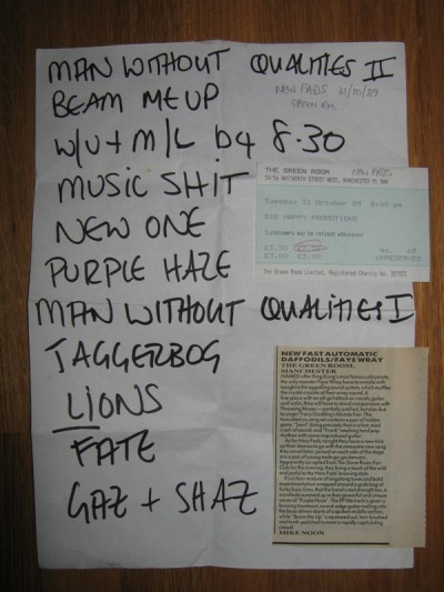 Great Sweaty Gig From The New Fads Green Room Was A Theatre Venue In Arches Opposite Ritz And It Cost 230